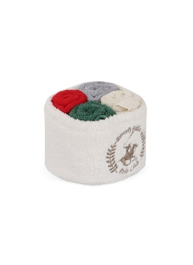 Beverly Hills Polo Club Polo El Kurulama Havlu Seti 30x30cm (4) Alinda - White v09 Beyaz  Gri  Kırmızı  K.Yeşil Gri